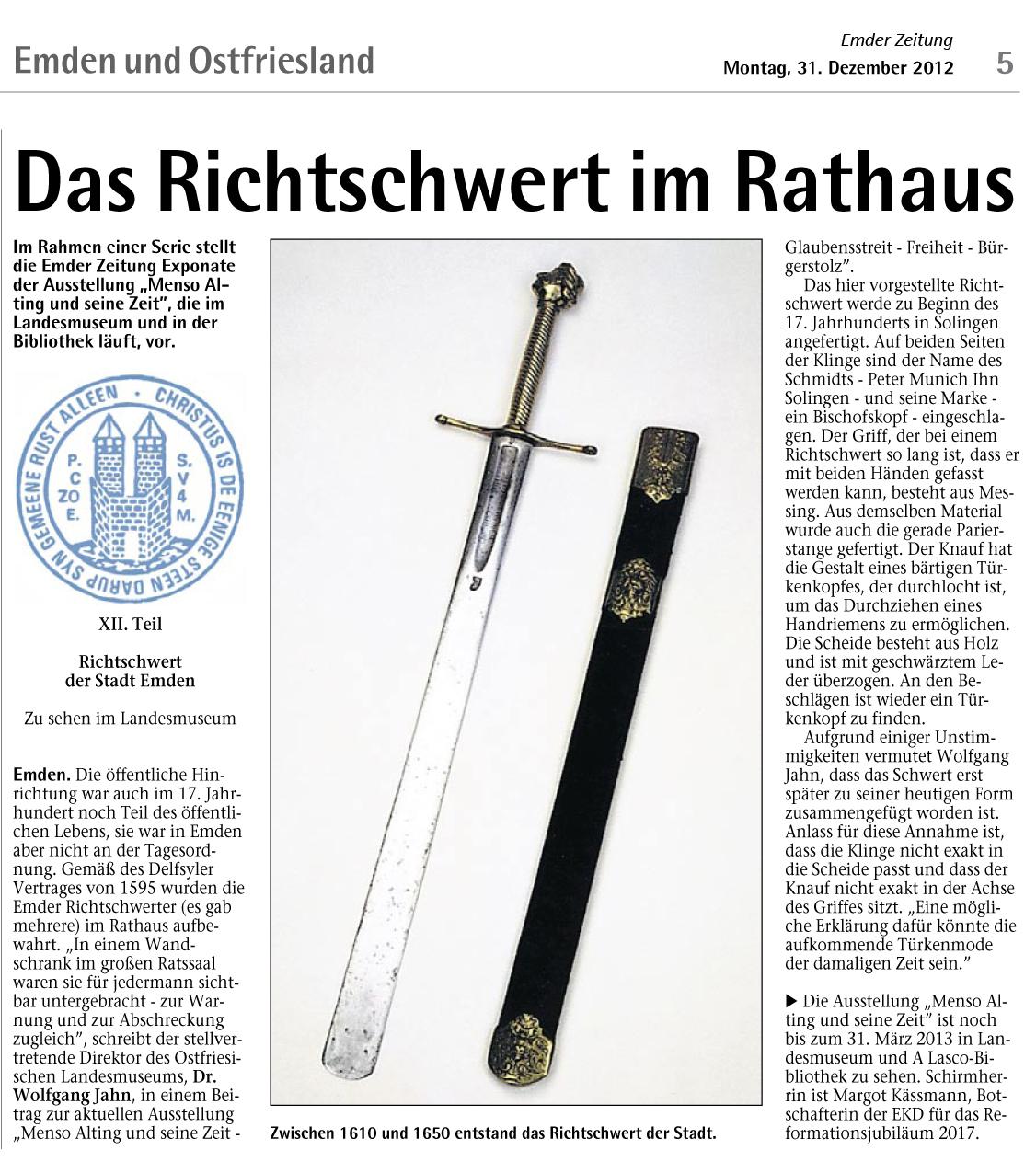 daten emder rathaus: